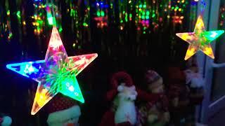 Новогодняя гирлянда Штора на окно «Разноцветные звёздочки»
