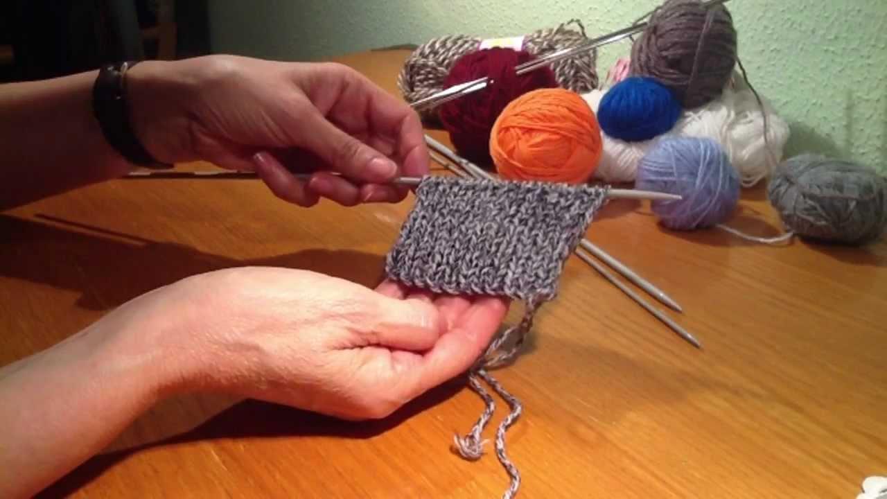 Hacer punto el stico tejer lana con dos agujas youtube - Hacer punto con dos agujas para principiantes ...