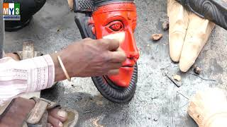 Clay Figure Sculpting - Clay Mural Painting on Canvas - CLAY DESIGN - Made in India