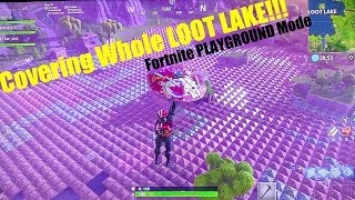 """Covering Whole """"LOOT LAKE"""" with Materials!!