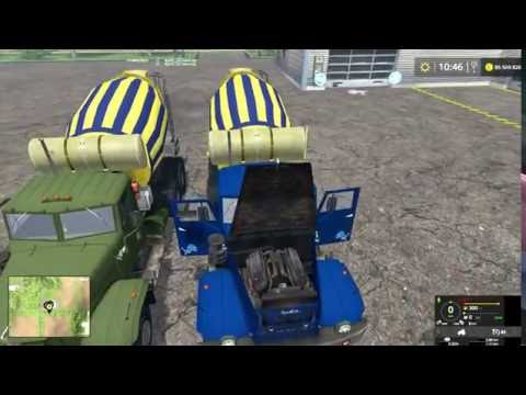 Farming Simulator 2015 мод грузовик миксер КрАЗ 257