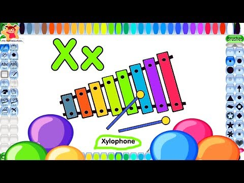 Xylophone Coloring Book |Musical Instruments Coloring Pages for Kids | ABC printing & Kids Coloring