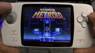 CAANOO playing Super Metroid & Super Mario Kart (SNES)