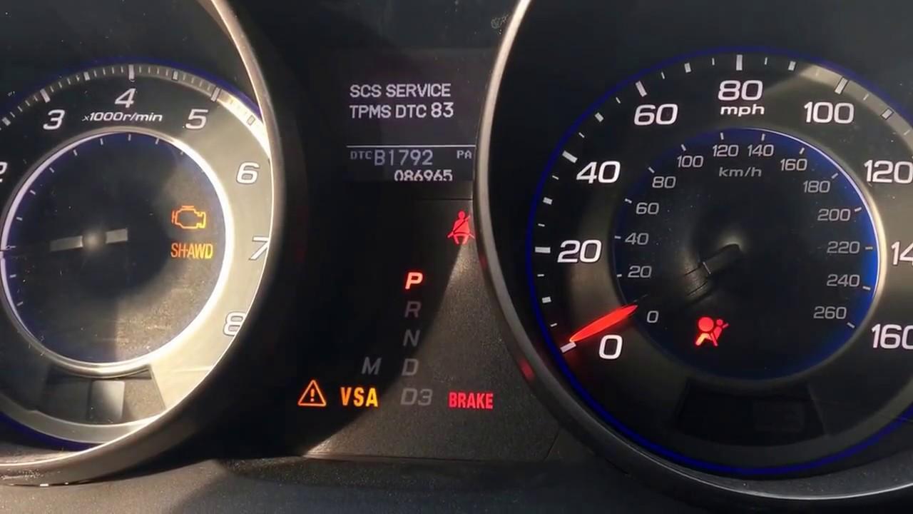 Honda Acura airbag code internal fault ECU