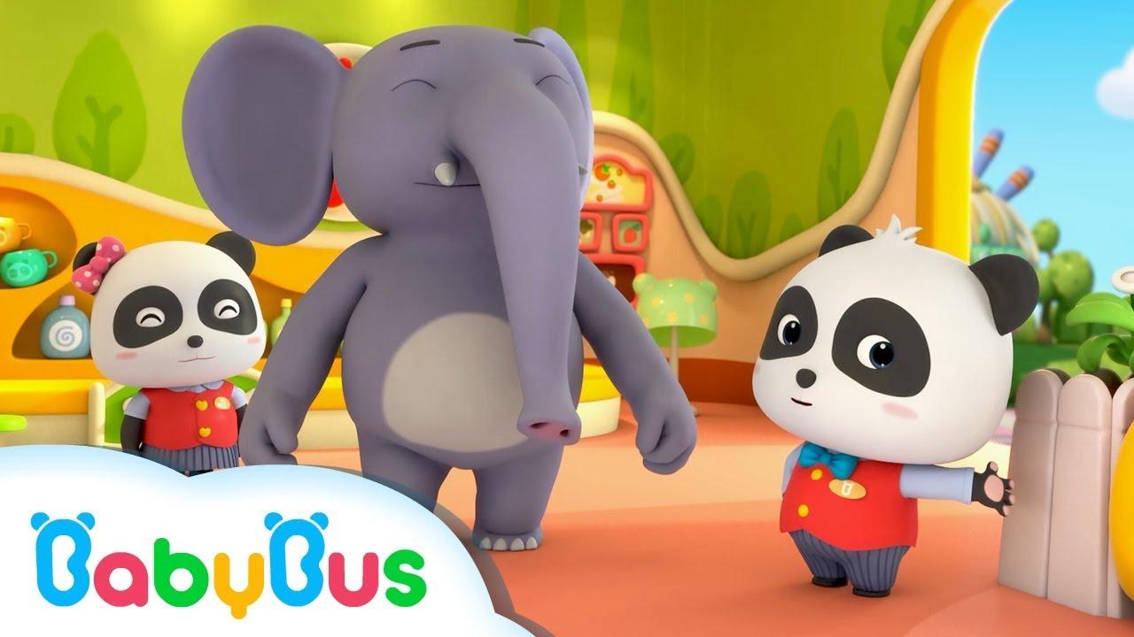 Welcome to Baby Panda Restaurant | Restaurant Server |  Kids Occupation Songs | BabyBus