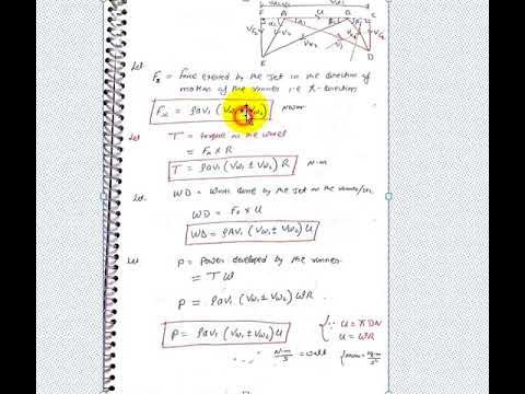 Velocity Triangle For Pelton Turbinew D Efficiencypart 4unit 3