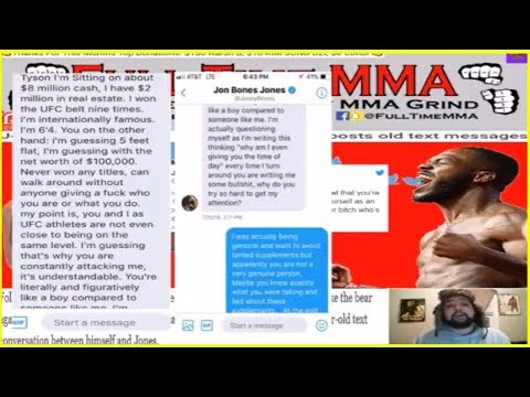 JON JONES FIRES BACK AT TYSON GRIFFIN AFTER POSTING OLD TEXT MESSAGES