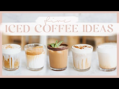 ICED COFFEE IDEAS YOU CAN MAKE AT HOME | Mint mocha, toasted coconut, salted cold foam & more! ☕️✨