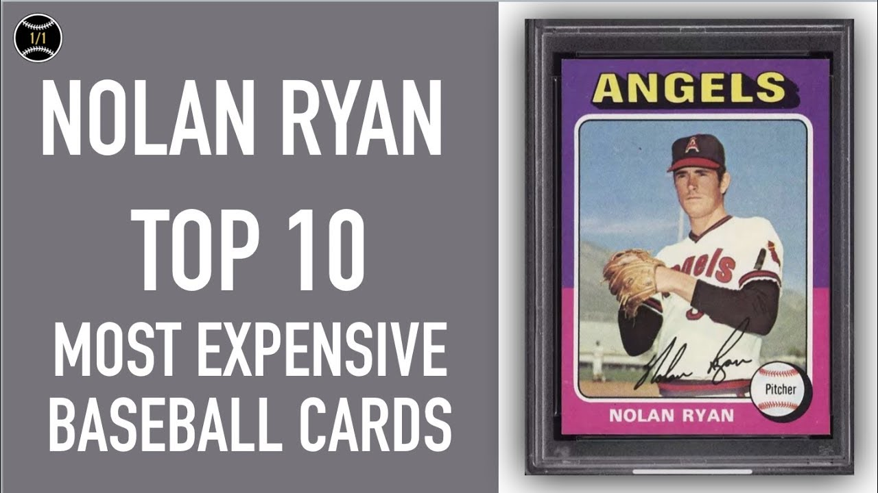 Nolan Ryan Top 10 Most Expensive Baseball Cards Sold On Ebay August October 2018