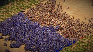 1,200 Elite Steppe Lancers (Cumans) VS 1,200 Halberdiers (Burmese) - AoE2:DE