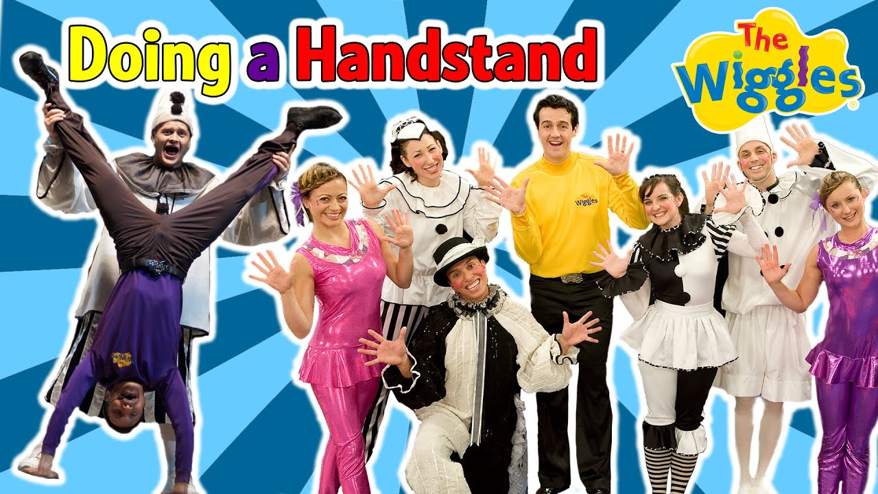 The Wiggles: Doing a Handstand | Hot Poppin' Popcorn! Songs about Sports for Kids
