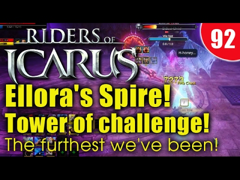 Riders Of Icarus - Ellora's Spire! Tower of challenge! The furthest we've been!