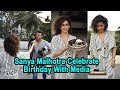 Sanya Malhotra celebrates 27th birthday with media