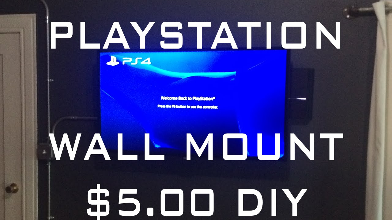 Diy Playstation Wall Mount Only 5 00 Full Tutorial