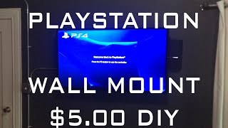 DIY PLAYSTATION WALL MOUNT ONLY $5.00!!! FULL TUTORIAL! PS4 HACKS