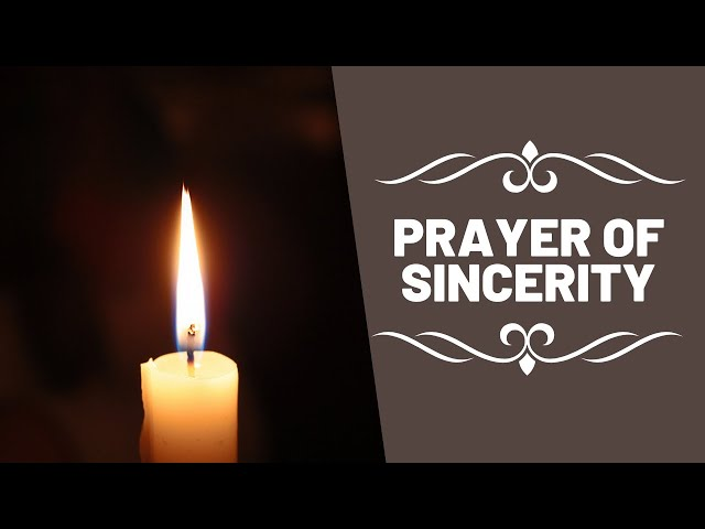 Prayer of Sincerity