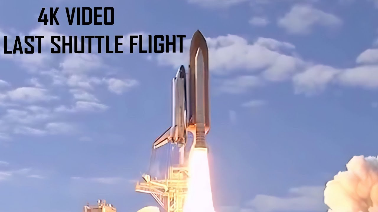 4K: Launch and Return of the Space Shuttle Atlantis / Upscaled Video