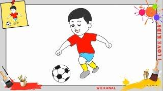 Fussball Zeichnen Lernen Fur Anfanger Kinder Zeichnen