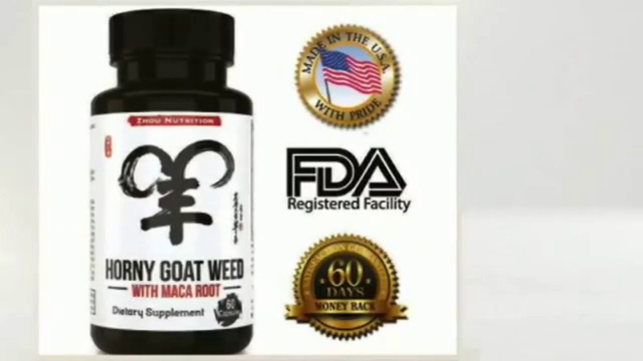 Horny Goat Weed Extract with Maca Root For increase libido in women and men  supplements