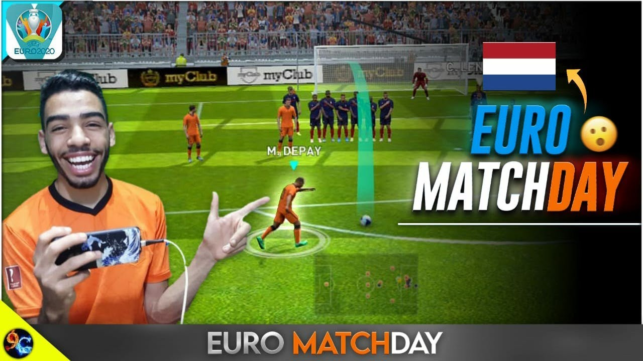 Dominating the EURO MATCHDAY using NETHERLANDS 🇳🇱 PES MOBILE