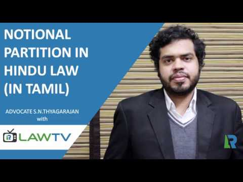 Indian Kanoon - Notional Partition in Hindu Law (In Tamil) - LawRato