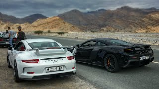 Racing Supercars in DANGEROUS Mountains !! McLaren 675 LT vs Porsche GT3