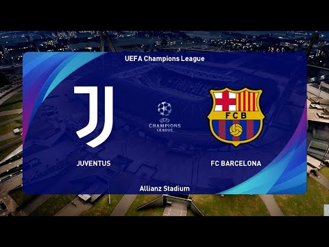 Pes 2021 Juventus Vs Barcelona Uefa Champions League Gameplay Pc Youtube
