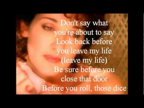 Celine Dion - Think Twice (lyrics)