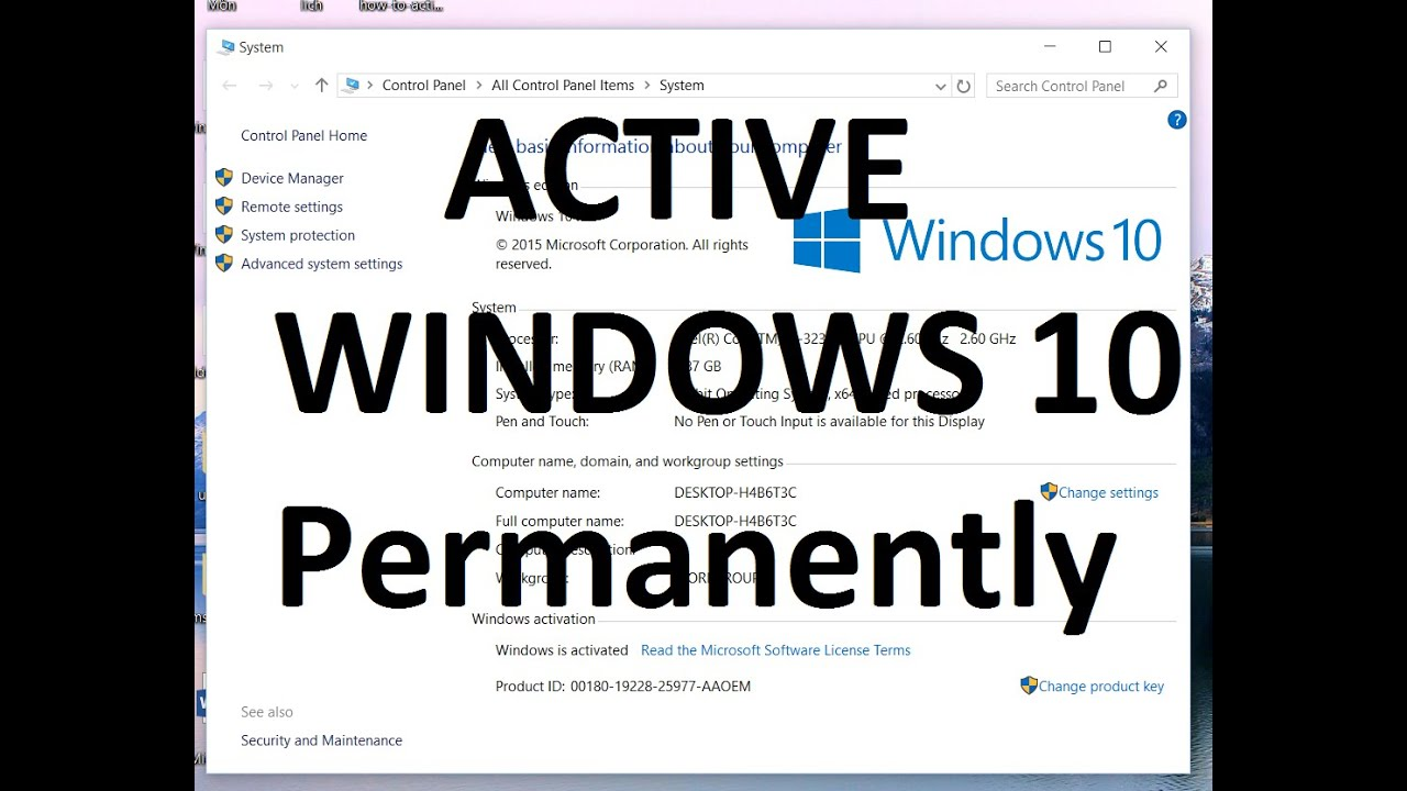 How To Crack Active Windows 10 Pro/Home/Enterprise ...