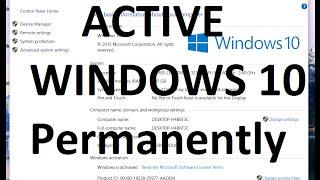 How To Crack Active Windows 10 Pro/Home/Enterprise | Permanently WINDOWS 10 Pro