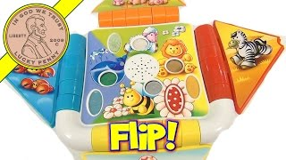 Fisher-Price Animal Sounds Touch and Real Feel Textures Flip Open Book
