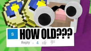 how old is purple shep?? minecraft qa