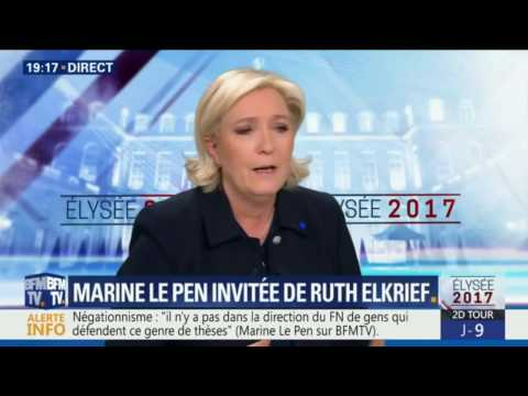 Marine Le Pen invitée de Ruth Elkrief le 28 avril 2017