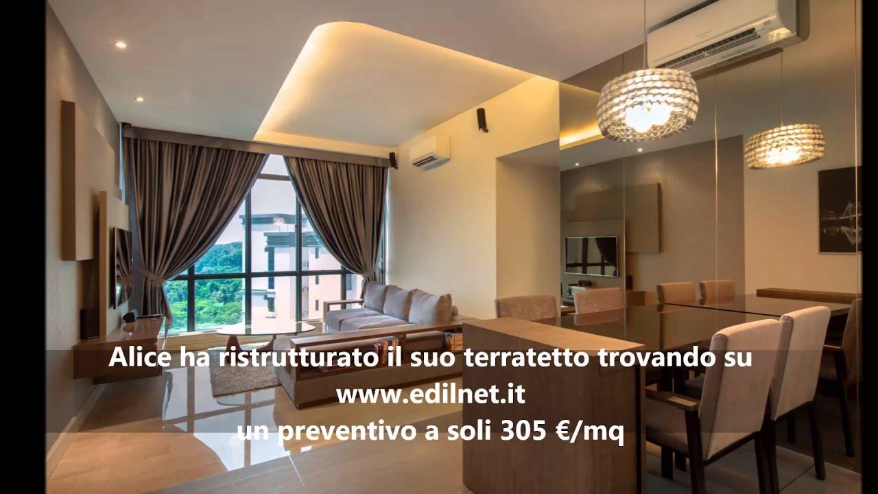 Costo Ristrutturazione Terratetto e Terracielo - EDILNET.IT - YouTube