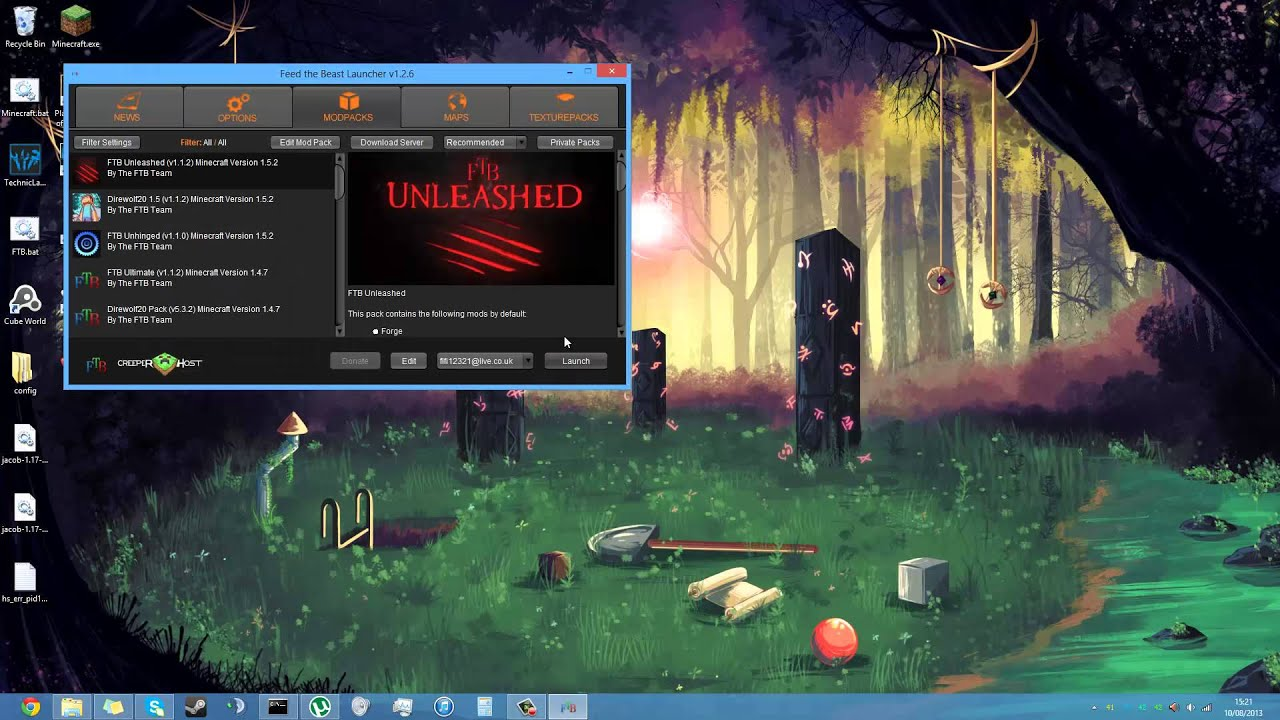 Minecraft how to download ftb unleashed