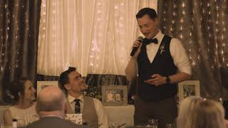 Joey's speech at Garin and Amy's wedding