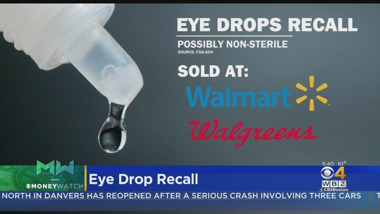 Eye Drop Recall At Walmart, Walgreens