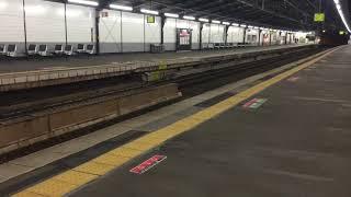 JR西日本 281系 近ヒネHA607編成(ハローキティPRラッピング/ori-tsuru編成) 関空特急 はるか 芦原橋駅 つうか