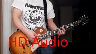Ramones – Gimme Gimme Shock Treatment (Guitar Cover), Barre Chords, Downstroking, Johnny Ramone