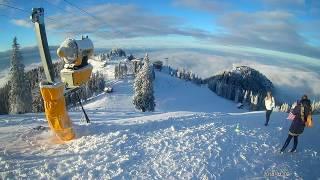 Ski Partia Sulinar Traseu complet de la telecabina Poiana Brasov - Theo ian.2018