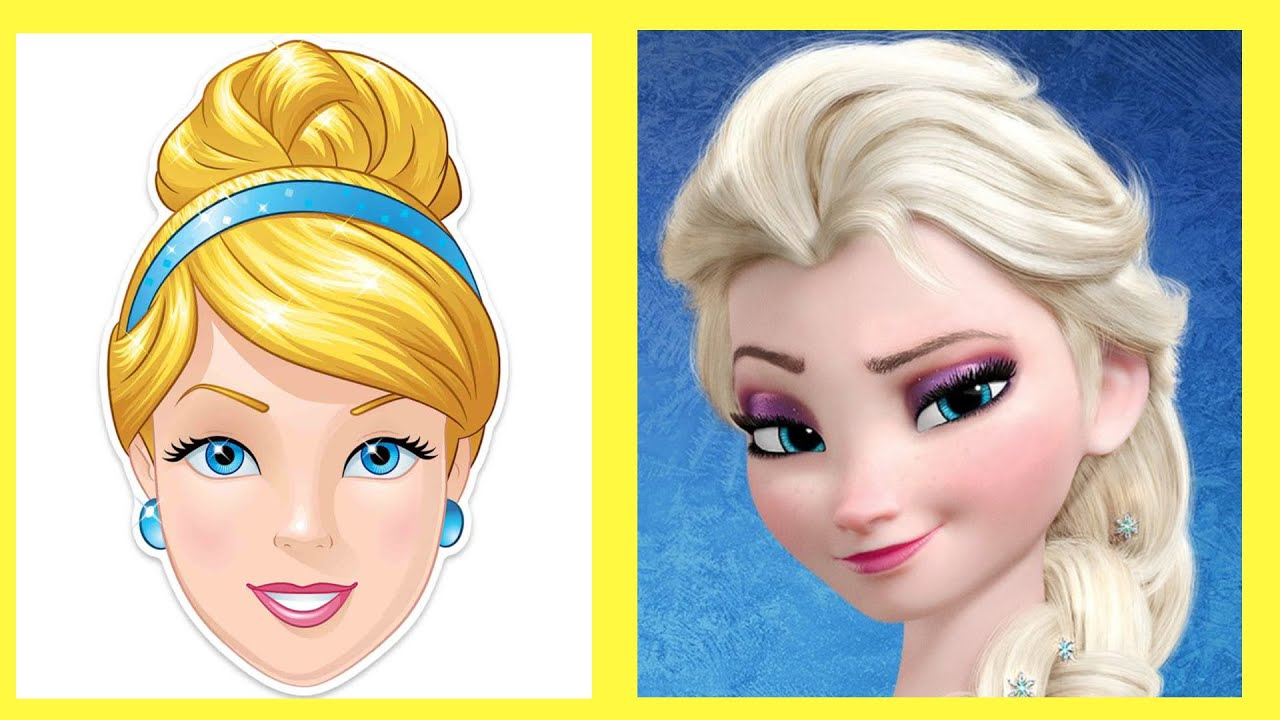 Cinderella and Queen Elsa frozen mixed! Which hair style do you like more? 1 or 2?😍