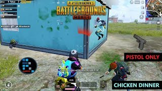 [Hindi] PUBG MOBILE   PISTOL ONLY MATCH CHICKEN DINNER & DUO MATCH WITH SAD ENDING