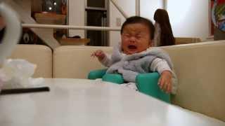 大泣きしている娘にホルモンを聞かせると泣き止みます。曲を止めるとま...