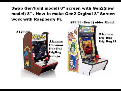 Arcade 1up Countercade Gen1 & Gen2 Screen Swap work ? Can and Gen2 Screen work with  Raspberry Pi ? from Johnny Liu