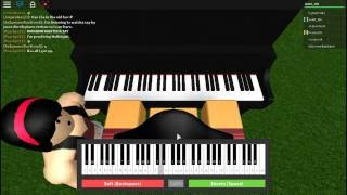 Playing a song! | Piano keyboard | Roblox