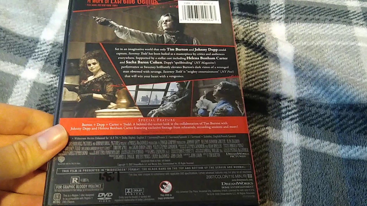 Download Sweeney Todd (2007): DVD Review