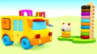 Розвиваючі мультики — Вивчаємо кольори — Маленький автобус і ХопХоп