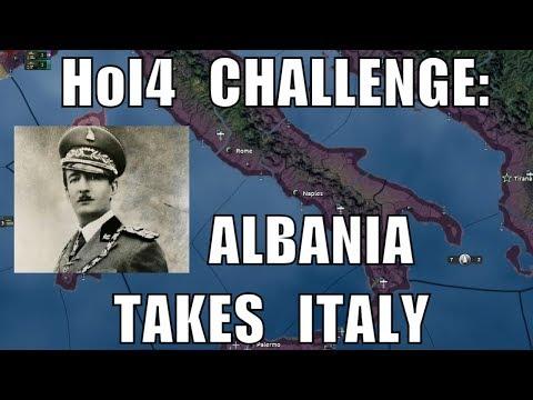 Hearts of Iron 4 Challenge: Albania annexes Italy