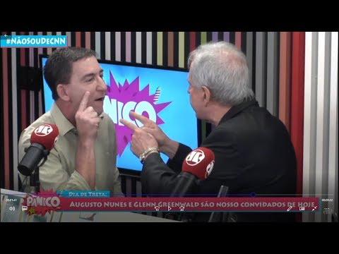 Baixaria na Jovem Pan: Augusto Nunes agride Glenn Greenwald