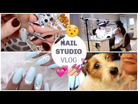 "NAIL STUDIO VLOG | CRYSTAL BALLERINA GEL NAILS | EXCLUSIVE SNEAK PEAK - STAR CASSETTE ""MALIBU"" thumbnail"